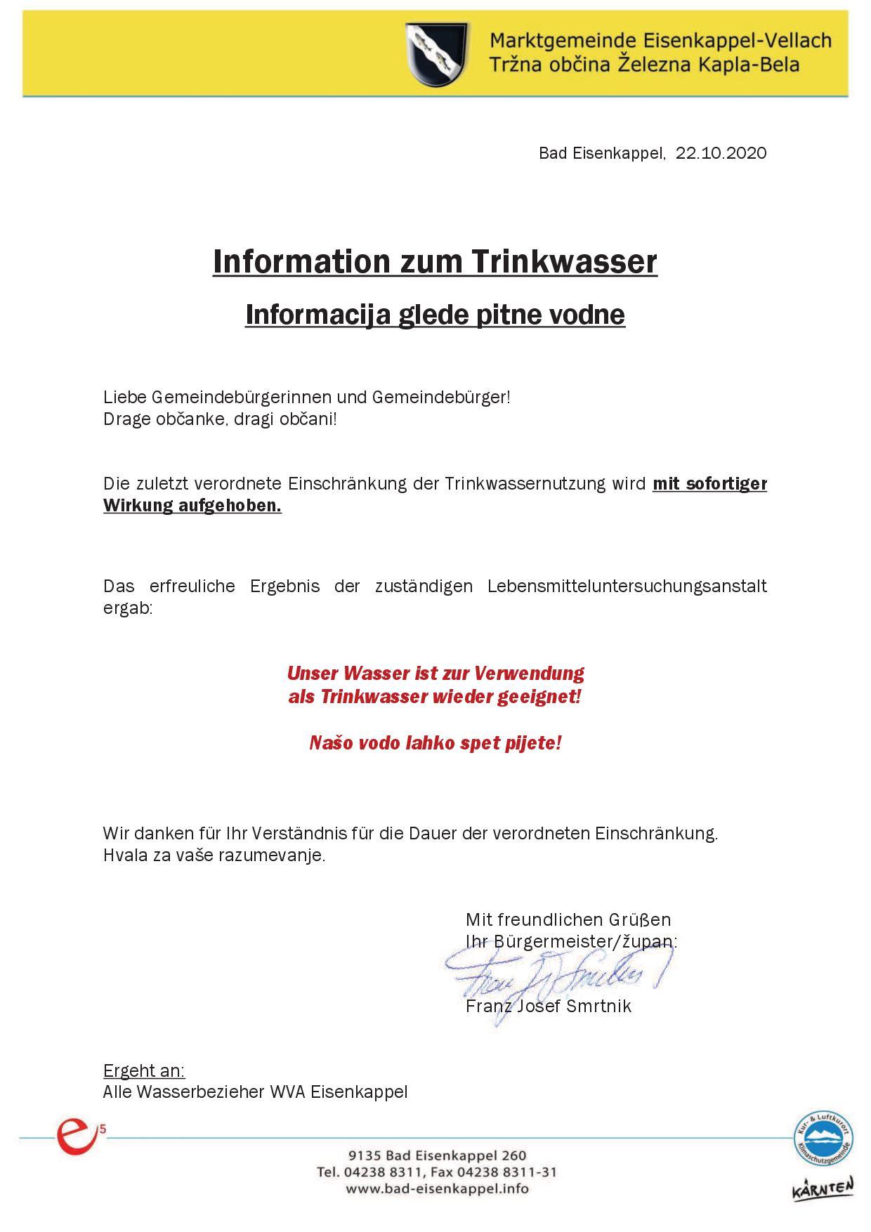 Dringende Info